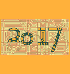 Happy new year 2017 background cyber abstract vector