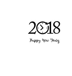 happy new years 2018 theme vector image