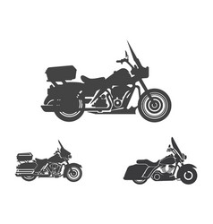 harley davidson american style motorcycle vector image