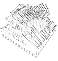 House structure architecture abstract drawing vector