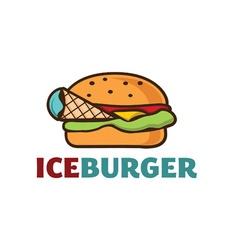Ice burger concept vector