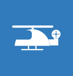 Icon on background helicopter toy flying vector