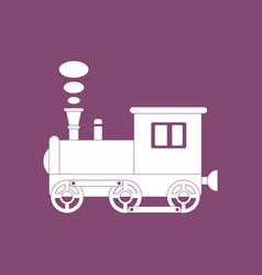 Icon on background kids train vector