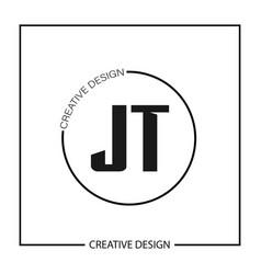 Initial letter jt logo template design vector