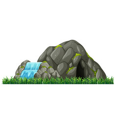 Isolated nature cave on white background vector