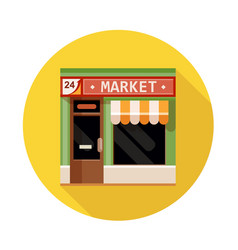 Market front view flat icon vector