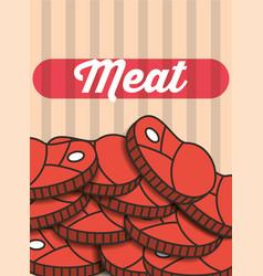 meat steak pieces menu restaurant poster vector image