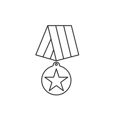 medal of veterans day icons for hero vector image