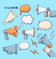 Megaphone set vector