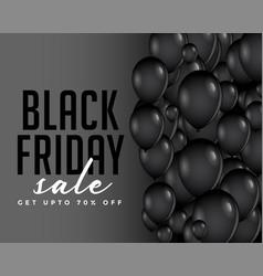 modern black friday balloons composition vector image