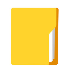 notepad in yellow plastic cover icon flat isolated vector image