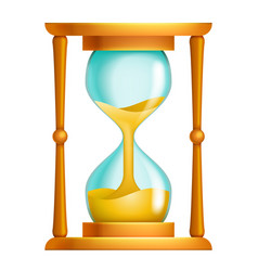 Old sand hourglass flow time leak running timer vector