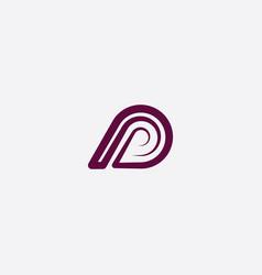 P logotype letter vector
