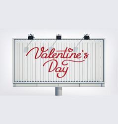 Romantic greeting horizontal billboard template vector
