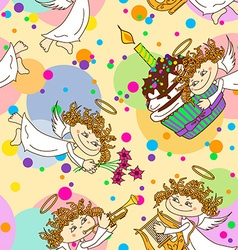 Seamless pattern for birthday party vector