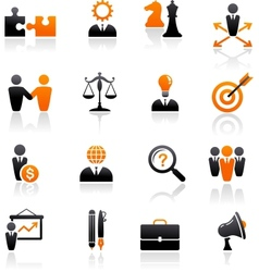 set business and strategy icons vector image