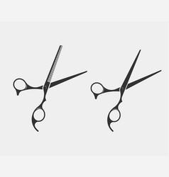 set hair cut scissor icon scissors design element vector image