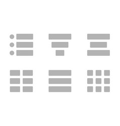 set icons hamburger menu double hamburger menu vector image
