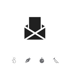 set of 5 editable science icons includes symbols vector image