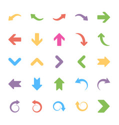 Set of arrows flat icons vector