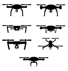 set of drones vector image