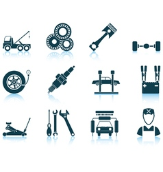 Set of Service station icons vector image