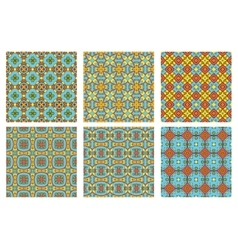 Set of six summer patterns vector