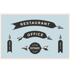 Set of vintage arrows and banners with inscription vector image