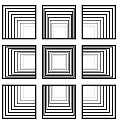 set window squares with perspective tending vector image