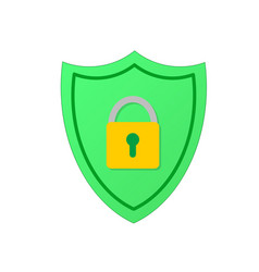 shield with padlock modern flat icon stock vector image