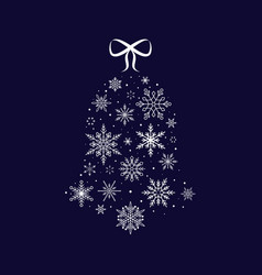 snowflake bell christmas and new year vector image