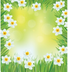 spring frame vector image vector image