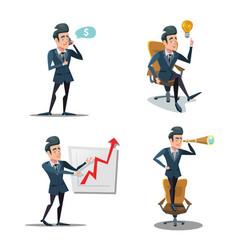 successful businessman cartoons vector image
