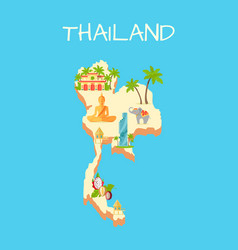 thailand island isolated on azure background vector image