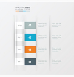 timeline design design yellow blue pink color vector image