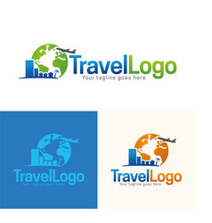 Travel icon and logo vector