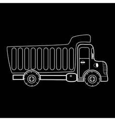 Truck with body for bulk goods vector image