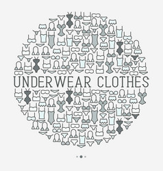 underwear clothes concept in circle vector image