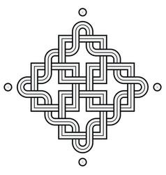 viking decoration knot - chaned squares snake vector image