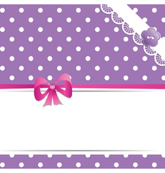 violet greeting card or baby shower vector image