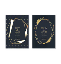 wedding invitation cards trendy luxury card with vector image