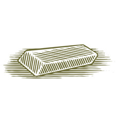 Woodcut eraser vector