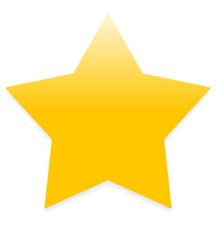 yellow star isolated vector image