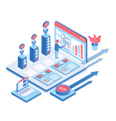 your business growth isometric vector image