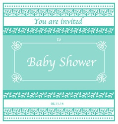 Baby shower invitation design vector image