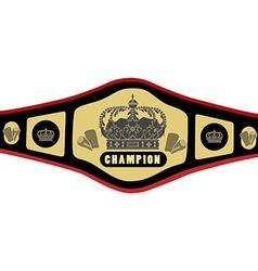Boxing belt vector image vector image