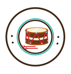Drum instrument isolated icon vector