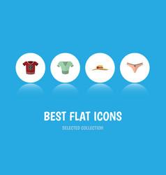 Flat icon dress set of t-shirt lingerie elegant vector