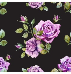 Gentle roses pattern vector image