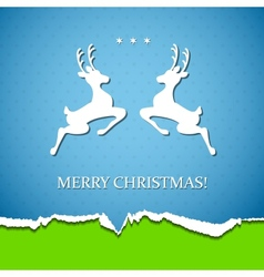 Holiday background with deer vector image